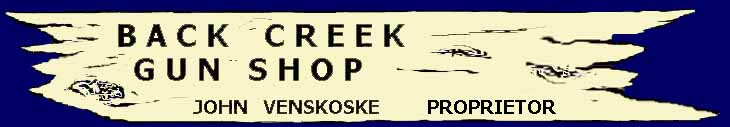 Back Creek Gun Shop Sign